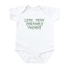 Lean Mean Cornhole Machine Infant Bodysuit