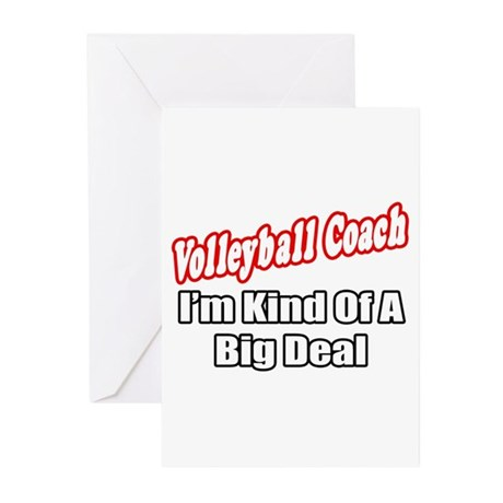 """Volleyball Coach..Big Deal"" Greeting Cards (Pk of"