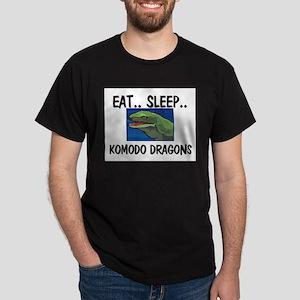 Eat ... Sleep ... KOMODO DRAGONS Dark T-Shirt