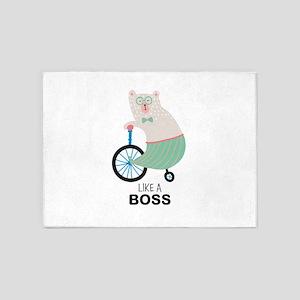 Like a Boss Funny Bear 5'x7'Area Rug