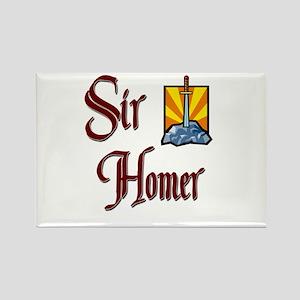Sir Homer Rectangle Magnet
