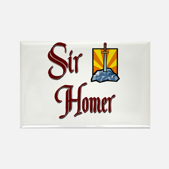 Sir Homer Rectangle Magnet