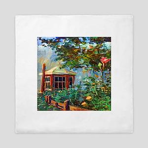 Egon Schiele Flower Garden Queen Duvet