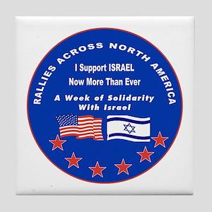 Support Israel Tile Coaster