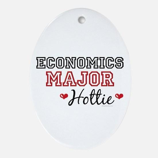 Economics Major Hottie Oval Ornament