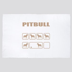 Stubborn Pitbull Tricks design 4' x 6' Rug