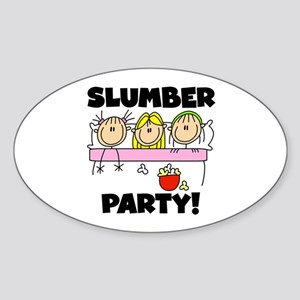 Slumber Party Oval Sticker