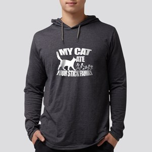 CAT Ate Your Stick Family Long Sleeve T-Shirt