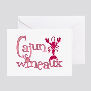 Cajun Wineaux crawfish Greeting Card