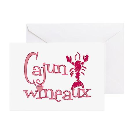 Cajun Wineaux crawfish Greeting Cards (Pk of 10)