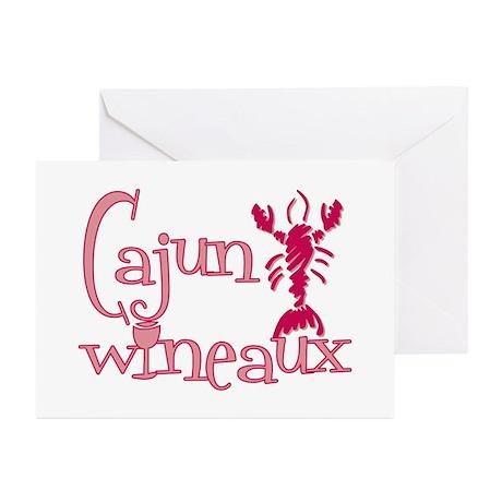 Cajun Wineaux crawfish Greeting Cards (Pk of 20)