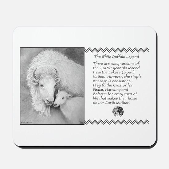 White Buffalo & Calf ~ Mousepad
