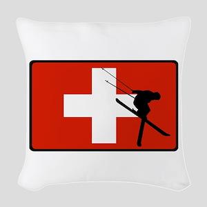 SWISS Woven Throw Pillow