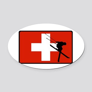 SWISS Oval Car Magnet