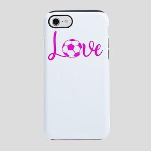 Soccer Love Soccer Pink Ball iPhone 8/7 Tough Case