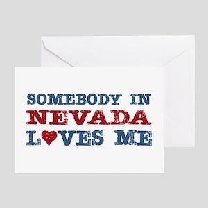 Somebody in Nevada Loves Me Greeting Card