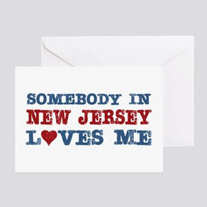 Somebody in New Jersey Loves Me Greeting Card