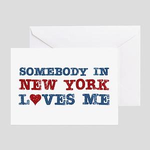 Somebody in New York Loves Me Greeting Card