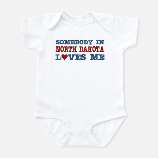 Somebody in North Dakota Loves Me Infant Bodysuit