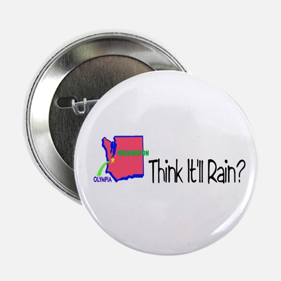 "Think It'll Rain? 2.25"" Button"