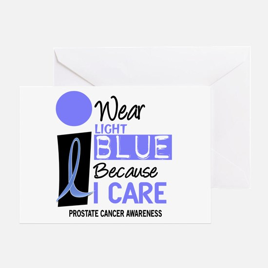 I Wear Light Blue Because I Care 9 Greeting Card
