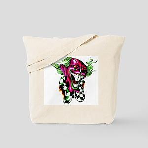 Bucktooth Clown Tattoo Tote Bag