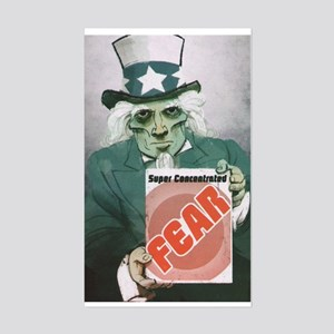 Fear Uncle Sam! Rectangle Sticker