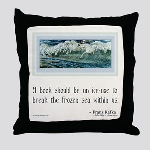Kafka on Books Throw Pillow