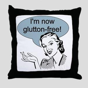 Retro Glutton Free Throw Pillow