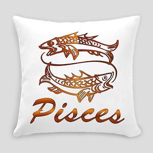 Bronze Pisces Everyday Pillow