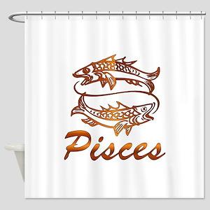 Bronze Pisces Shower Curtain