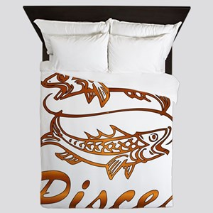 Bronze Pisces Queen Duvet