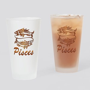 Bronze Pisces Drinking Glass