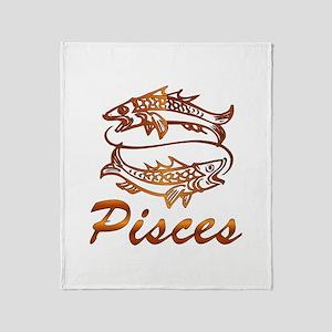 Bronze Pisces Throw Blanket