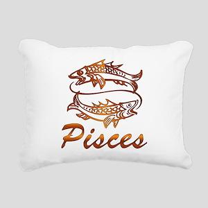 Bronze Pisces Rectangular Canvas Pillow