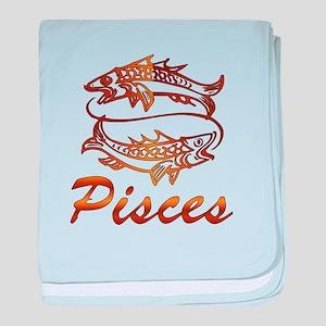 Bronze Pisces baby blanket