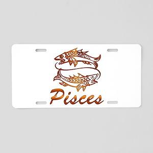 Bronze Pisces Aluminum License Plate