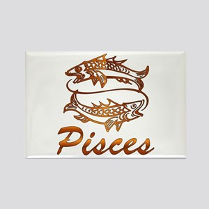 Bronze Pisces Rectangle Magnet