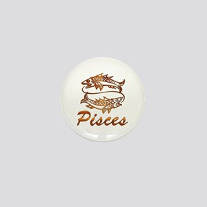 Bronze Pisces Mini Button