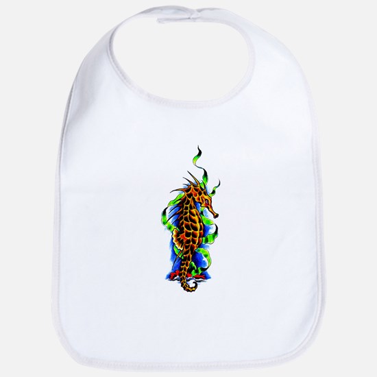 Seahorse Animal Art Tattoo Bib