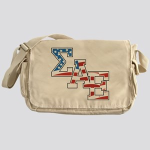 Sigma Alpha Epsilon Stars Messenger Bag