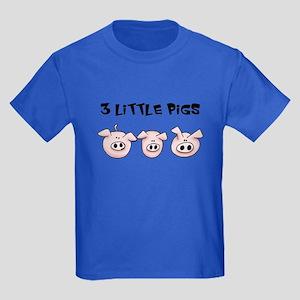 3 Little Pigs Kids Dark T-Shirt