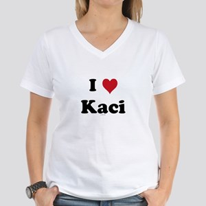 I love Kaci Women's V-Neck T-Shirt