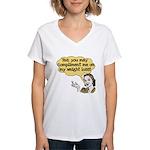 Compliment Weight Loss Women's V-Neck T-Shirt