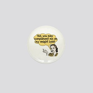 Compliment Weight Loss Mini Button