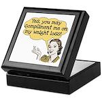 Compliment Weight Loss Keepsake Box