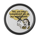 Compliment Weight Loss Large Wall Clock