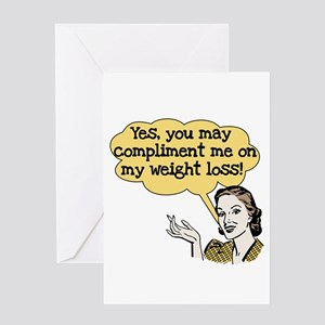 Weight loss greeting cards cafepress compliment weight loss greeting card m4hsunfo