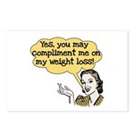 Compliment Weight Loss Postcards (Package of 8)