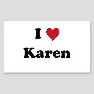 I love Karen Rectangle Sticker